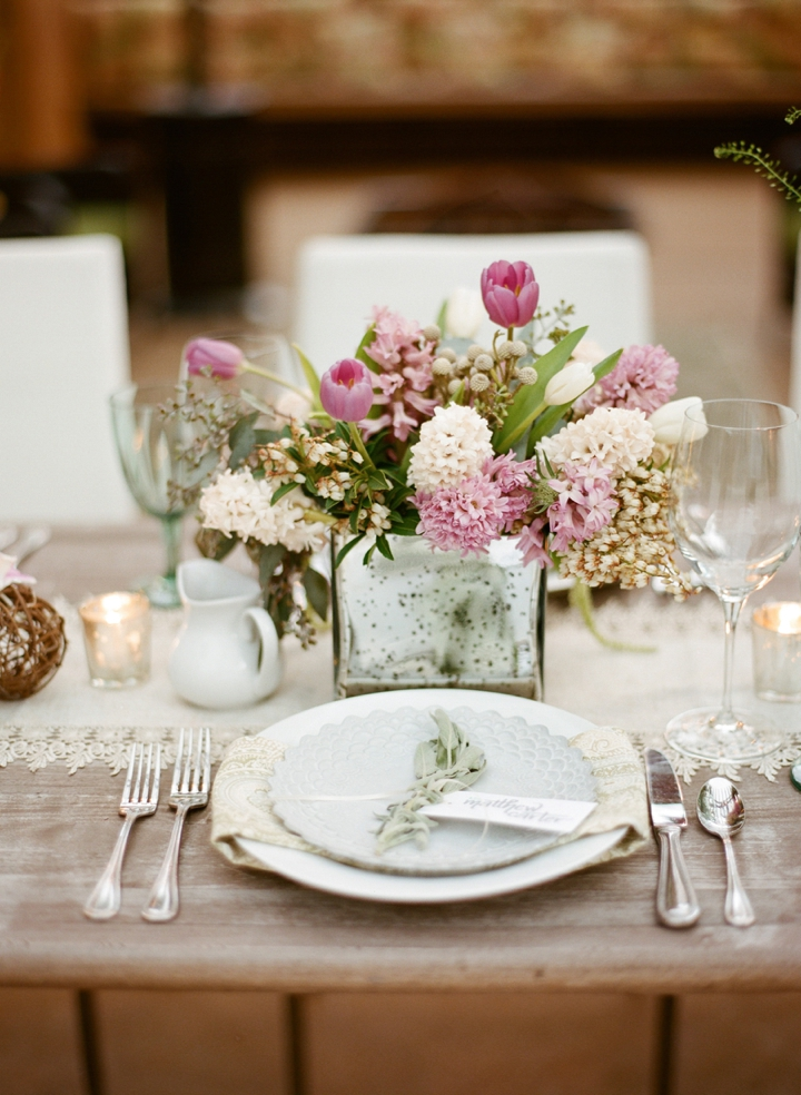 table decorations weddings modern rustic herb inspired wedding ideas every last detail 7901