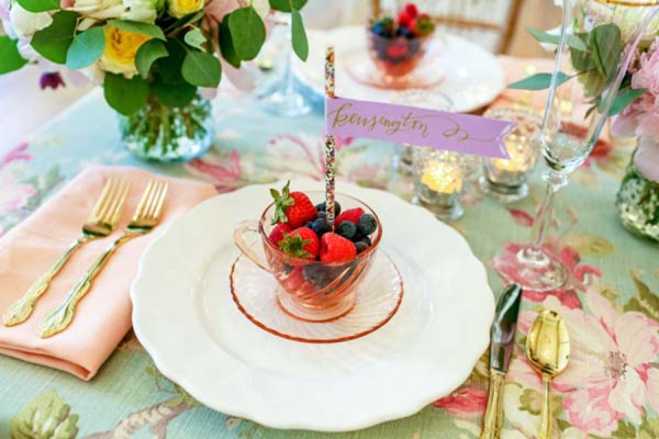 Vintage Pastel Wedding Inspiration via TheELD.com