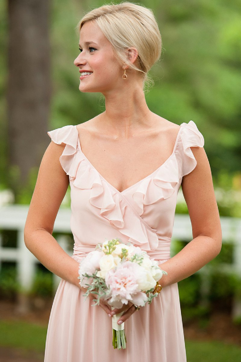 Classic Blush and Gold Florida Wedding via TheELD.com