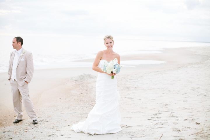 Blue and White Beach Inspired Wedding via TheELD.com