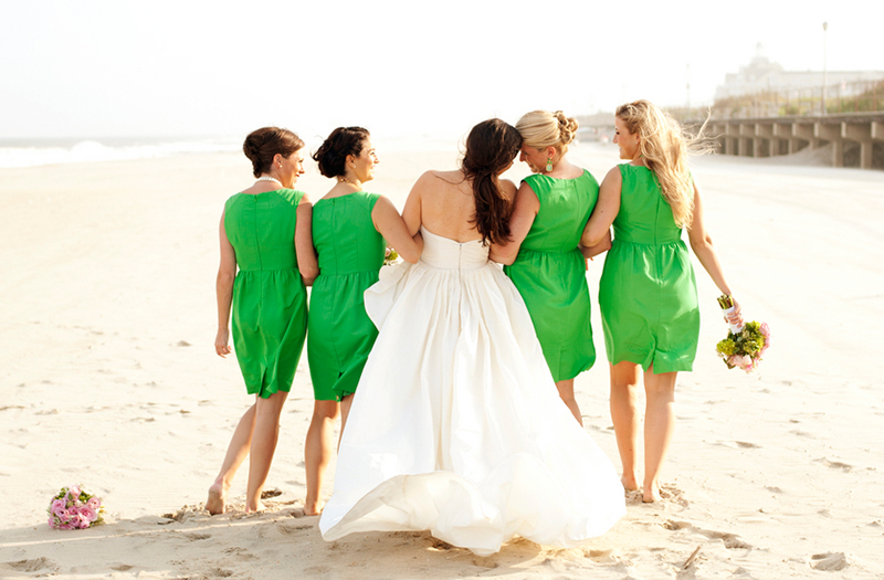 Classic and Eclectic Pink and Green New Jersey Wedding via TheELD.com