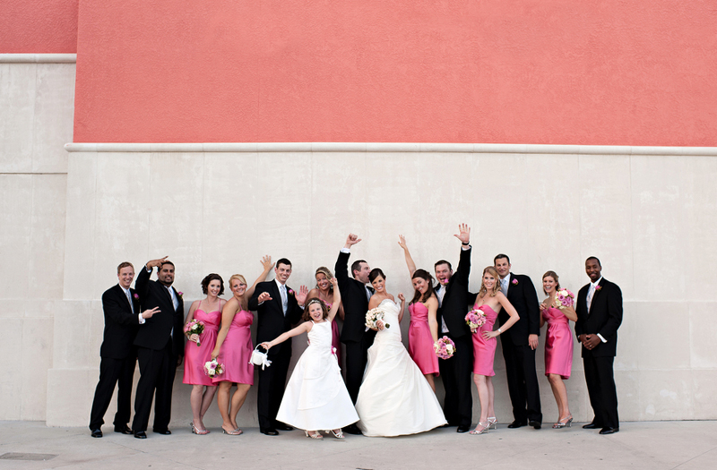 Classic Pink and White Florida Wedding via TheELD.com