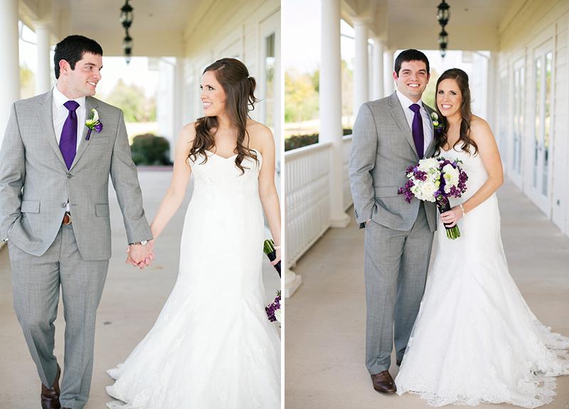 A Classic Southern Purple and Gray Texas Wedding via TheELD.com