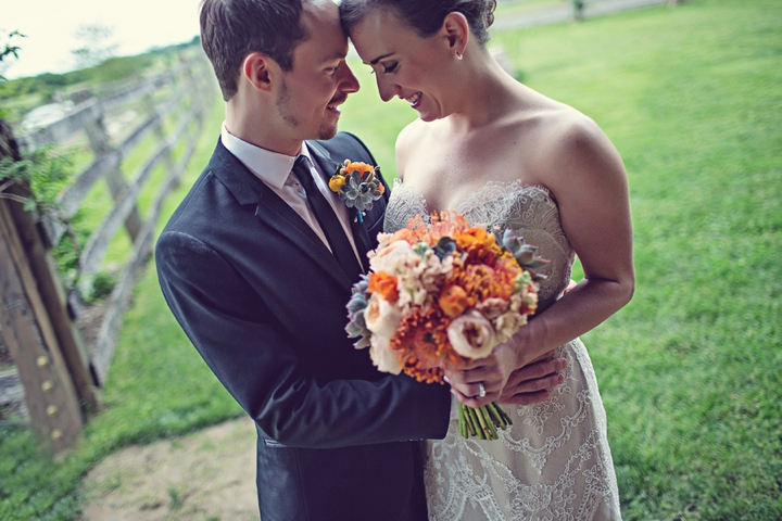 Colorful & Unique Rustic Michigan Wedding via TheELD.com