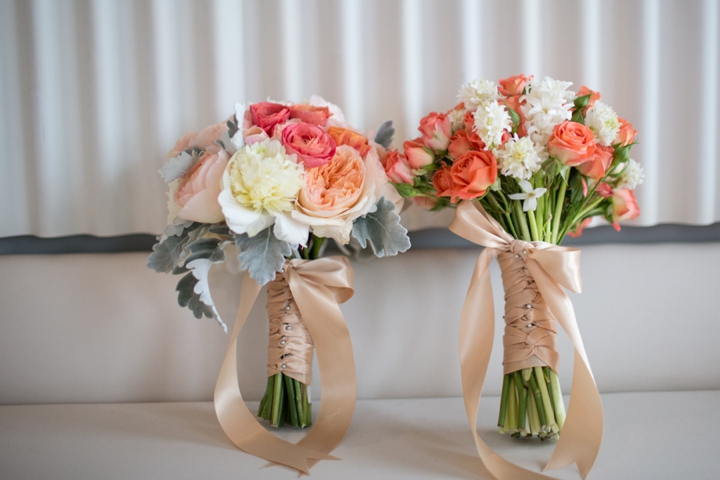Modern Nautical Peach and Gray Wedding Inspiration via TheELD.com