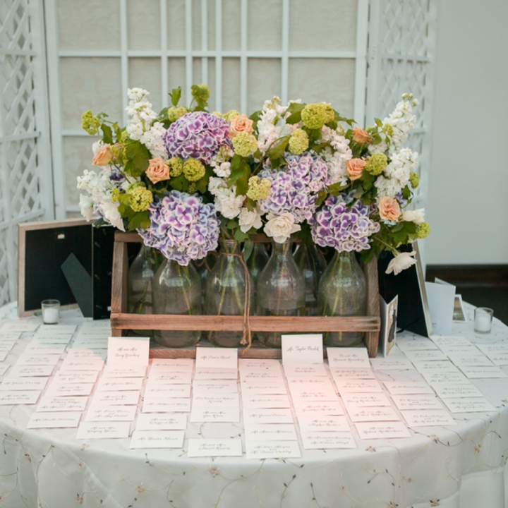 Modern Romantic Lavender and Blue Wedding via TheELD.com