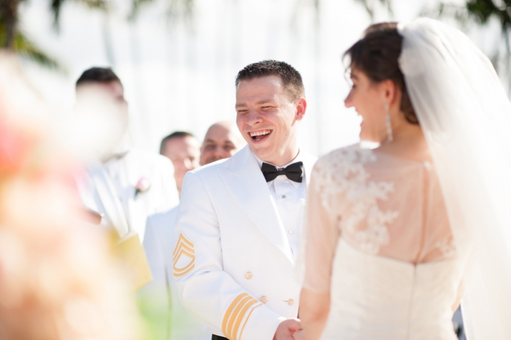 Romantic Pink and Ivory Florida Wedding via TheELD.com
