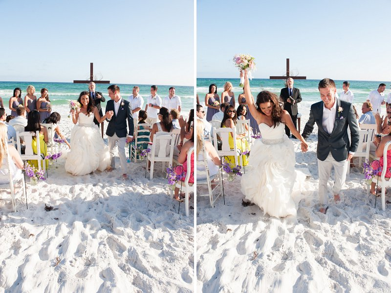 Purple and Gray Boho Chic Beach Wedding via TheELD.com