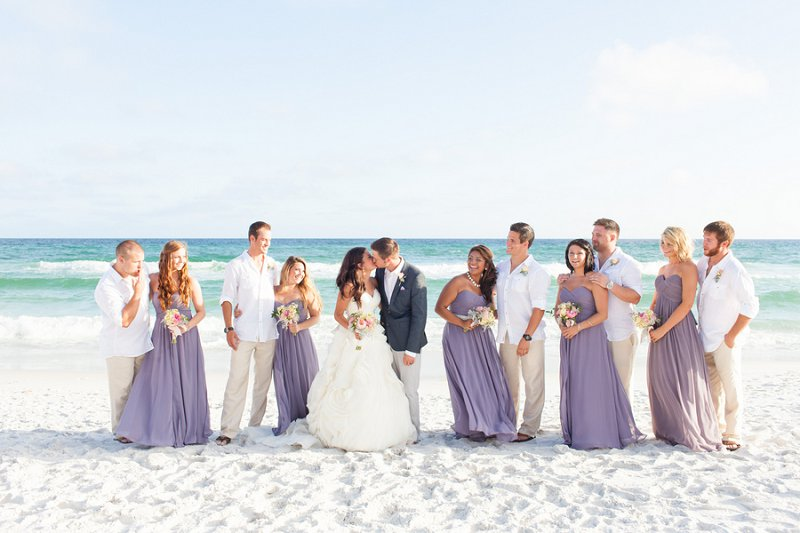 Purple and Gray Boho Chic Beach Wedding | Every Last Detail