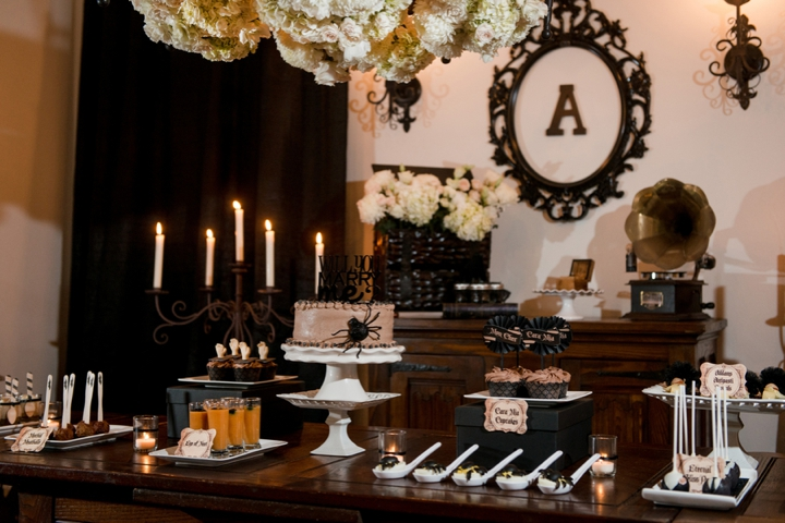 Elegant Halloween Inspired Engagement Party Ideas Every