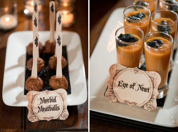 elegant halloween inspired engagement party ideas via theeldcom