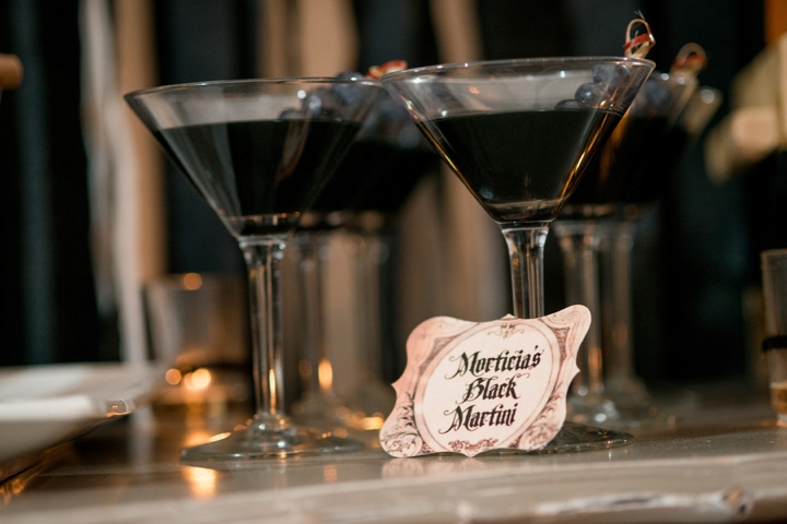 Elegant Halloween Inspired Engagement Party Ideas via TheELD.com