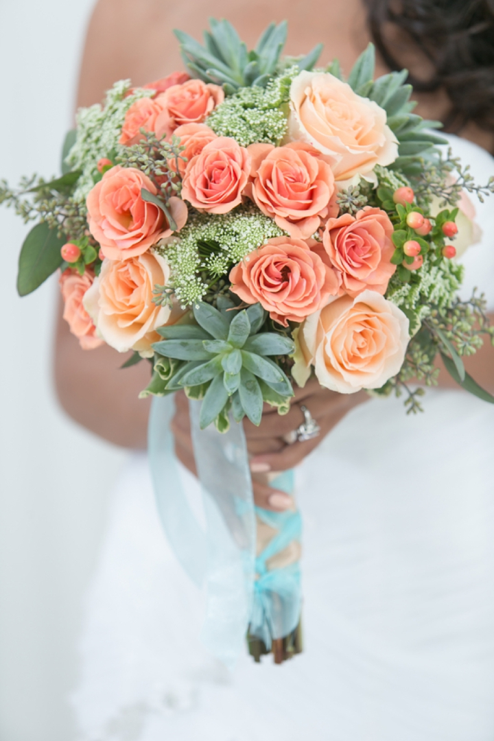 Modern peach and mint wedding inspiration every last detail modern peach and mint wedding inspiration via theeld junglespirit Gallery