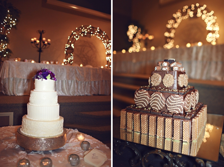 A Fall Purple and Champagne Alabama Wedding via TheELD.com