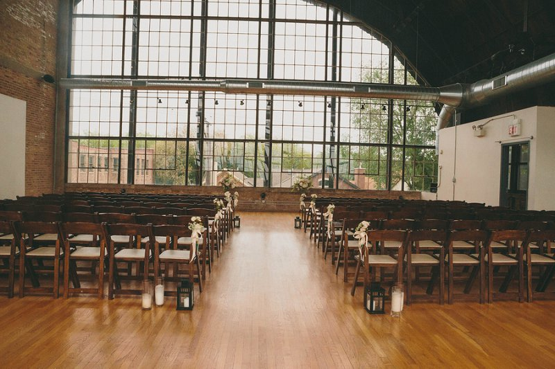 Pink and White Industrial Chic Chicago Wedding via TheELD.com