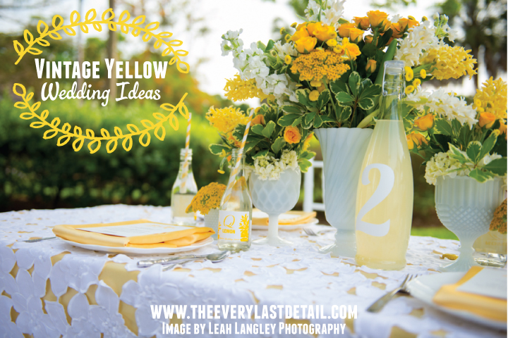 Vintage yellow wedding ideas every last detail vintage yellow wedding ideas via theeld junglespirit Gallery