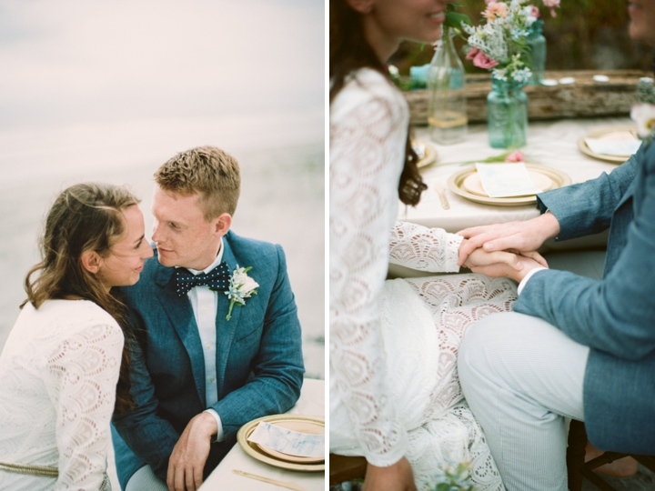 Beach Inspired Preppy Boho Wedding Inspiration via TheELD.com