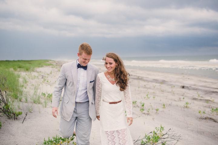 Beach Inspired Preppy Boho Wedding Inspiration via TheELD.com
