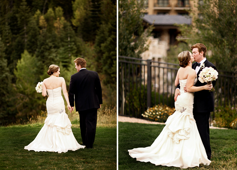 Modern Elegant Gray and White Utah Wedding via TheELD.com