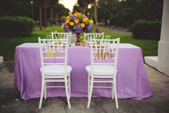 Elegant Lavender and Yellow Wedding Ideas