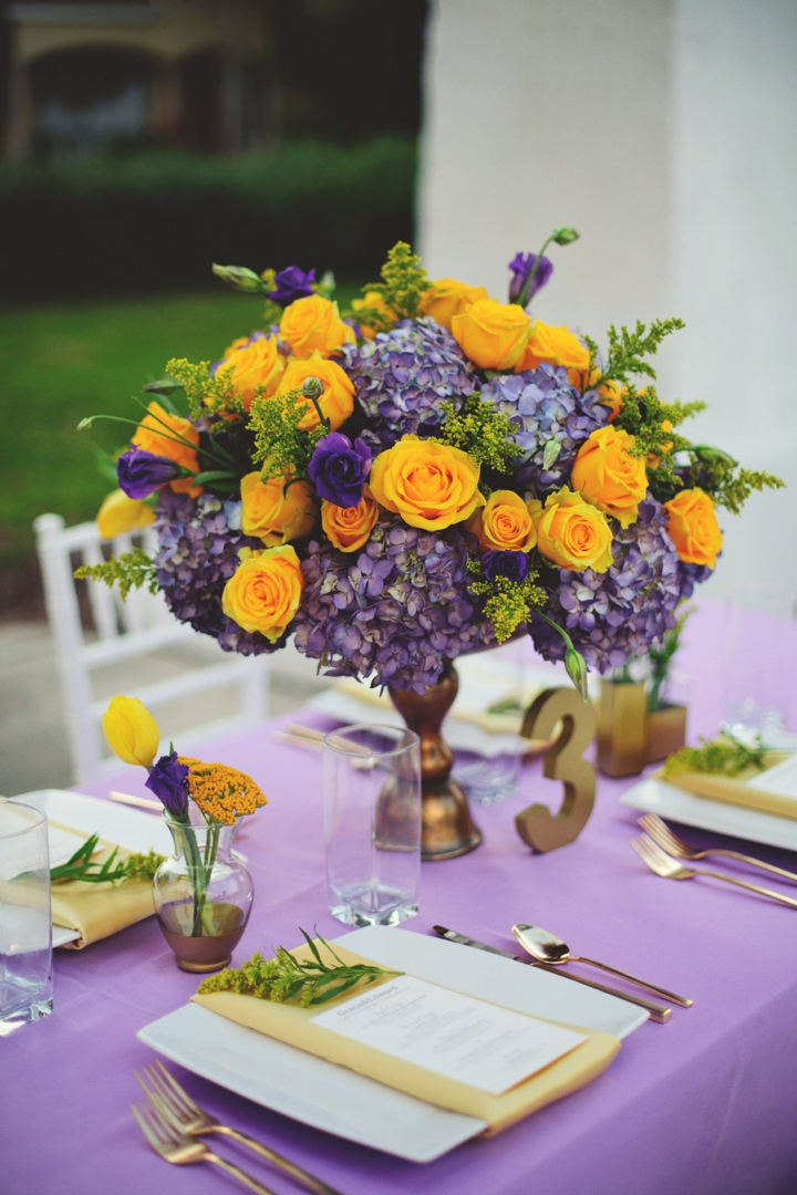 Elegant Lavender and Yellow Wedding Ideas | Every Last Detail