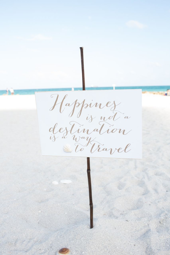 An Intimate Organic Beach Wedding via TheELD.com