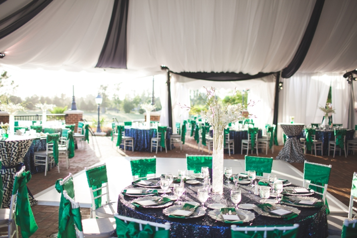 Modern Elegant Emerald and Navy Wedding Every Last Detail