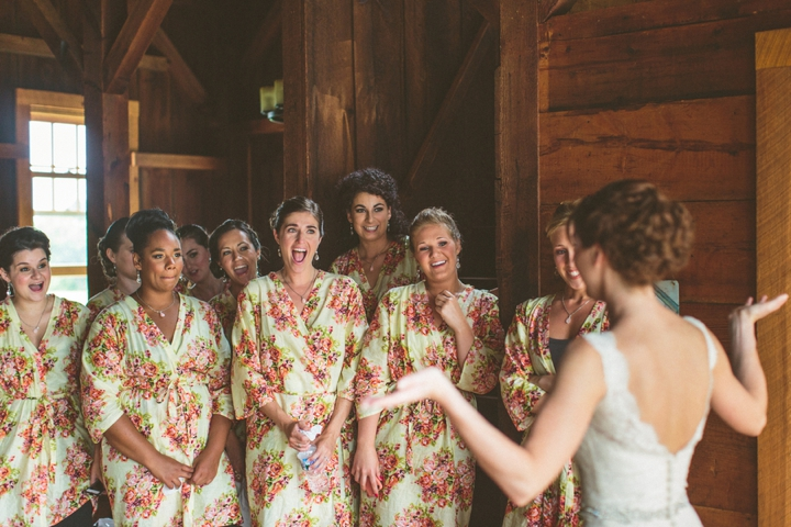 A Yellow and Peach Minnesota Farm Wedding via TheELD.com