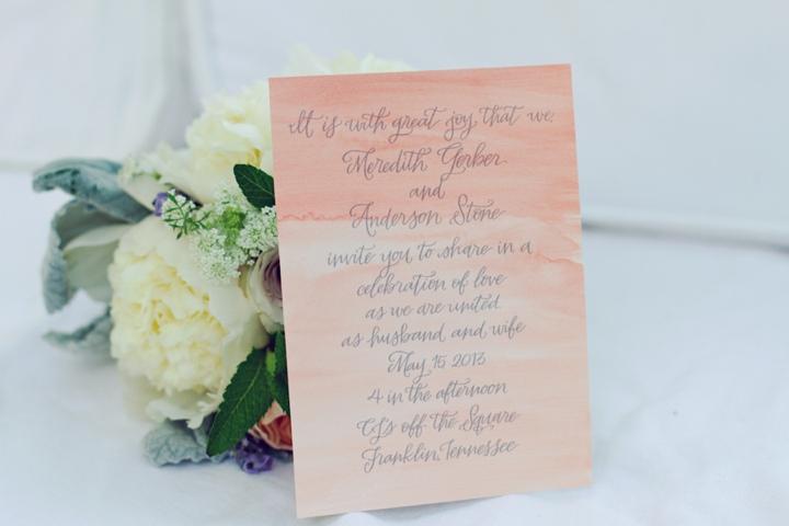 Denim and Watercolor Wedding Ideas via TheELD.com