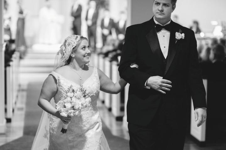 Purple and Silver North Carolina Winter Wedding via TheELD.com
