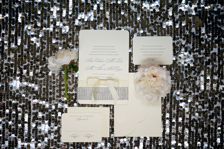 Sparkly Blue and Silver Glamorous Wedding Inspiration via TheELD.com