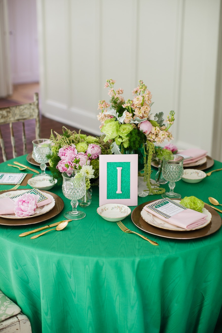 Vintage Eclectic Green Wedding Ideas via TheELD.com