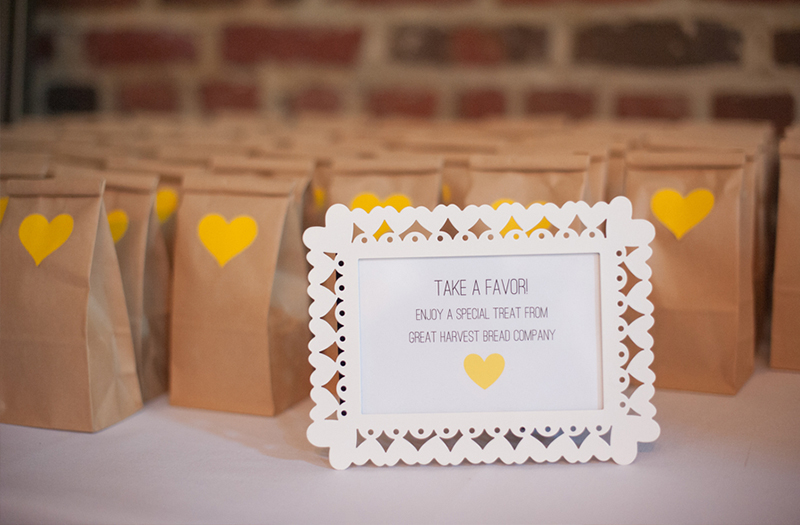Eclectic Yellow and Gray Maryland Wedding via TheELD.com