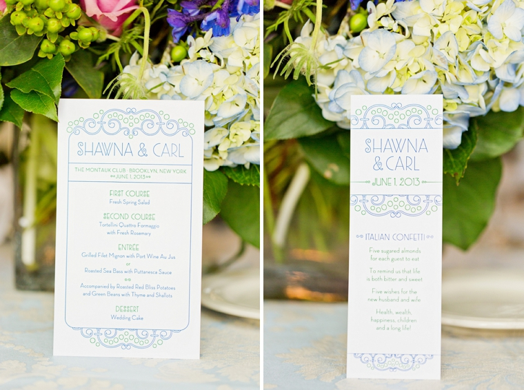 A Blue and Green Literature Themed Wedding via TheELD.com