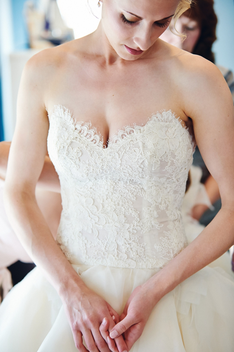 An Intimate Blush Pink Vintage Chic Wedding via TheELD.com