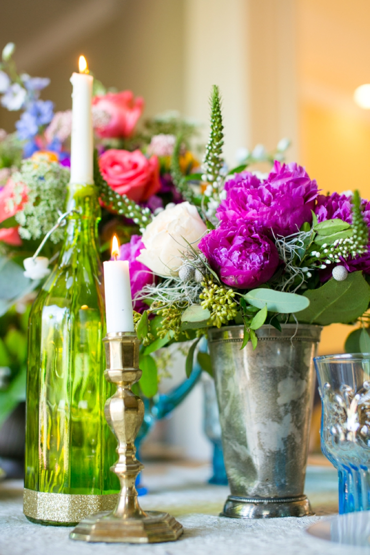 Eclectic Jewel Toned Wedding Inspiration via TheELD.com