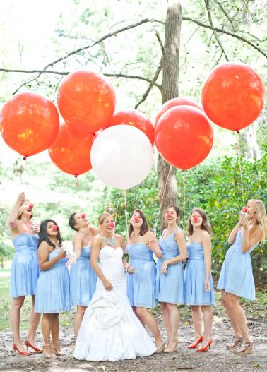 Blue, Aqua & Red Carnival Themed Wedding via TheELD.com