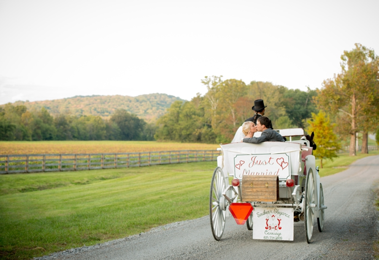 Orange & Cornflower Blue Tennessee Wedding via TheELD.com