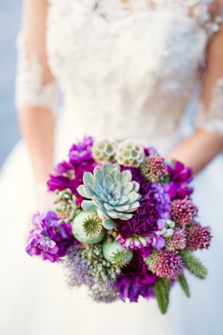Purple & Chic Nature Inspired Wedding via TheELD.com