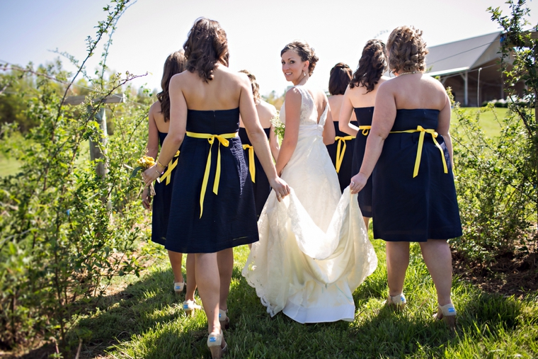 Rustic Yellow and Navy South Carolina Wedding via TheELD.com