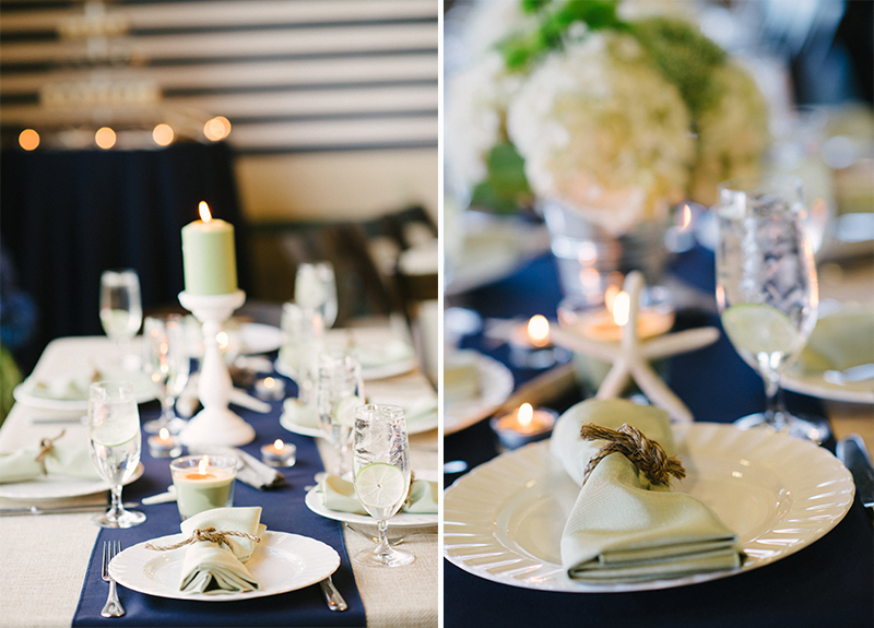A Nautical Navy and Green California Wedding via TheELD.com