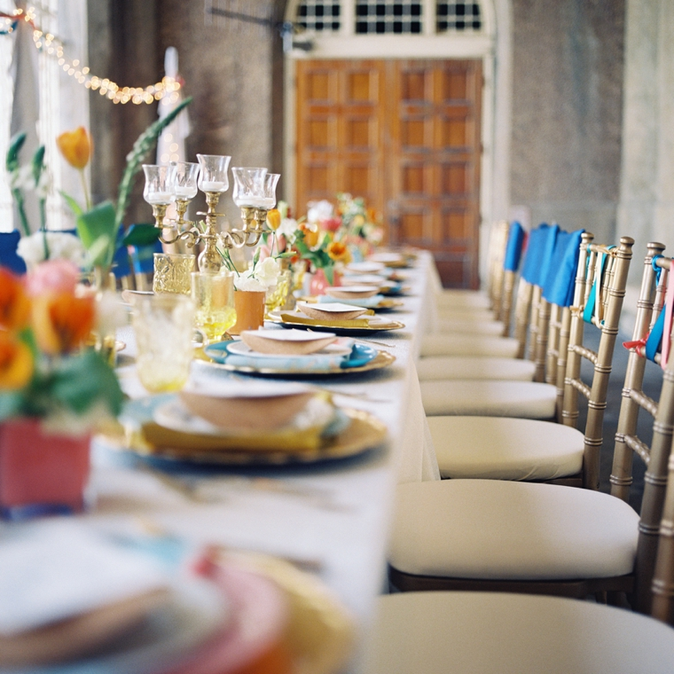 Vibrant Watercolor Engagement Party Inspiration via TheELD.com