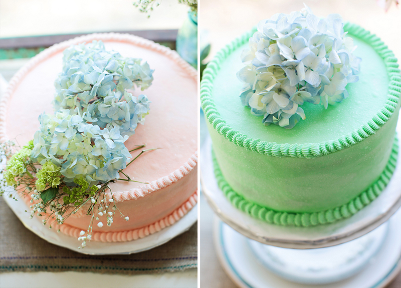 Vintage Pink and Aqua Southern Wedding via TheELD.com