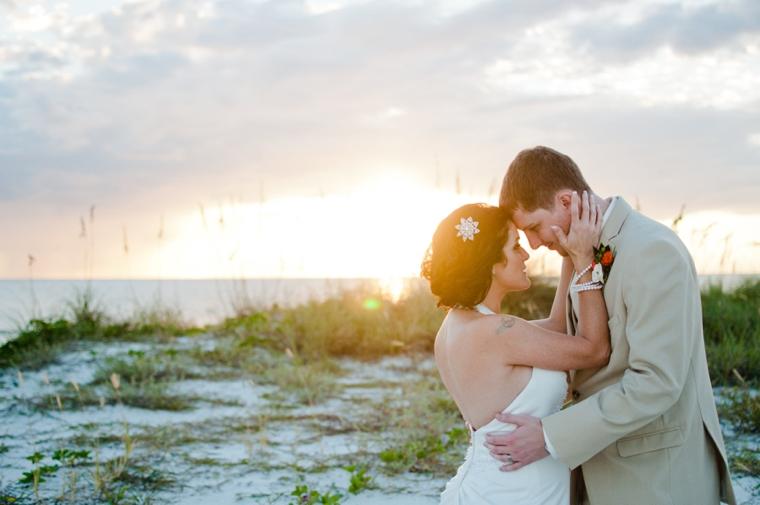 Coral & Blue Vintage Eclectic Florida Wedding via TheELD.com