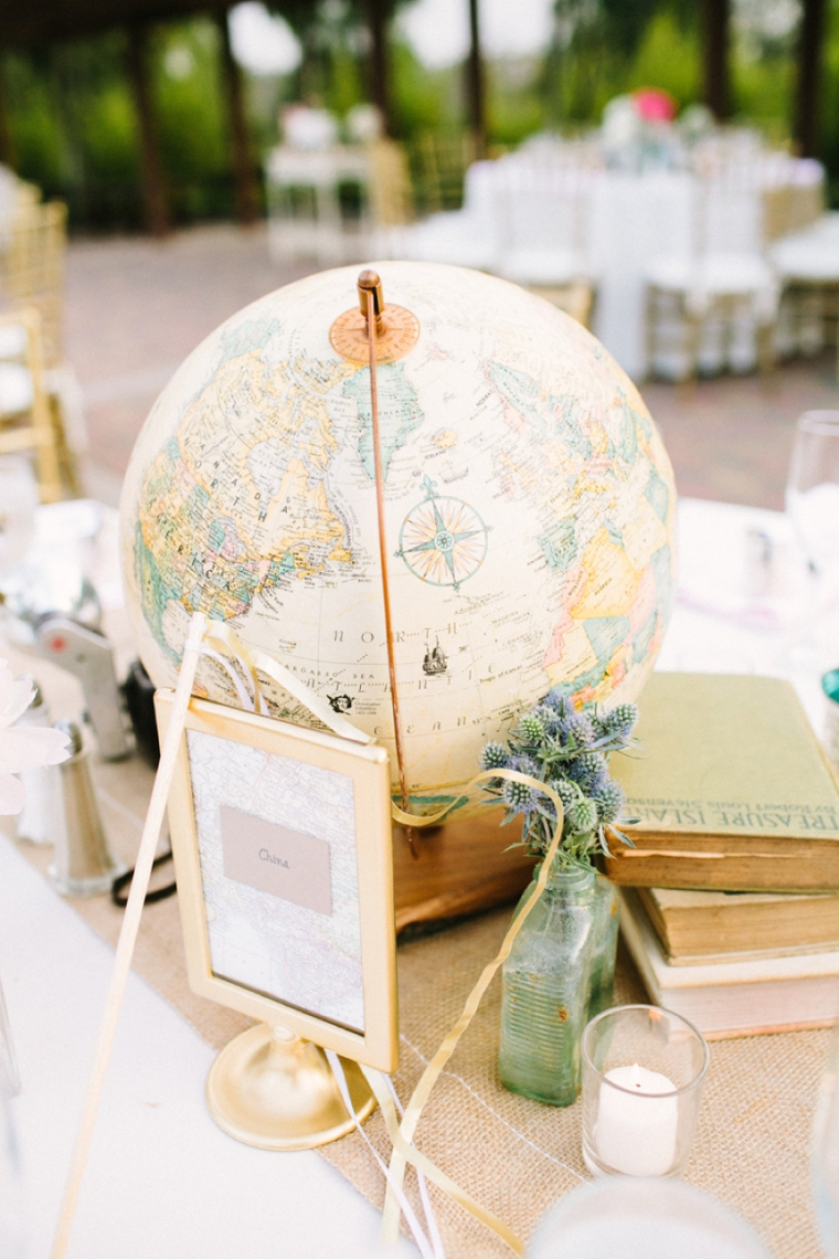 blush vintage travel themed wedding every last detail