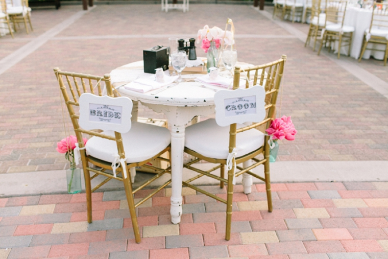 Blush & Vintage Travel Themed Wedding via TheELD.com