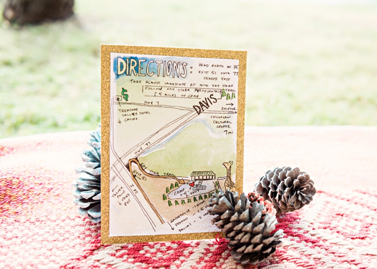 A Colorful Summer Camp Themed Wedding via TheELD.com