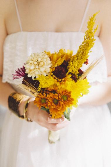 Aqua and Orange Boho Inspired Wedding Ideas via TheELD.com