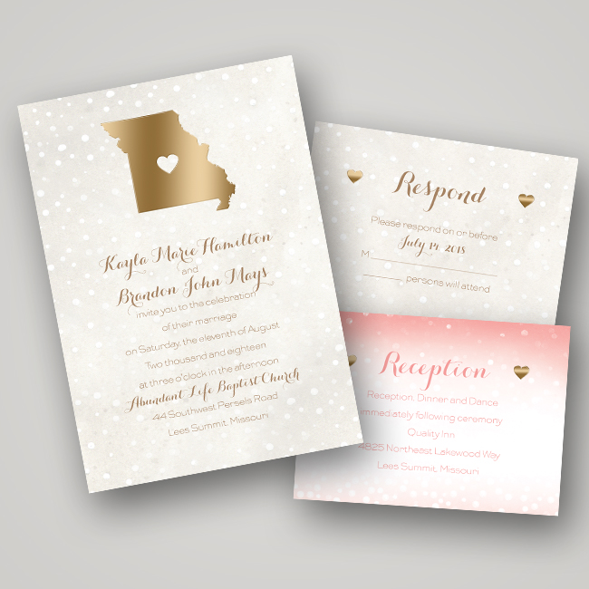 Invitation Ideas For Wedding: Wedding Invitation Ideas: Foil-Pressed Invitations