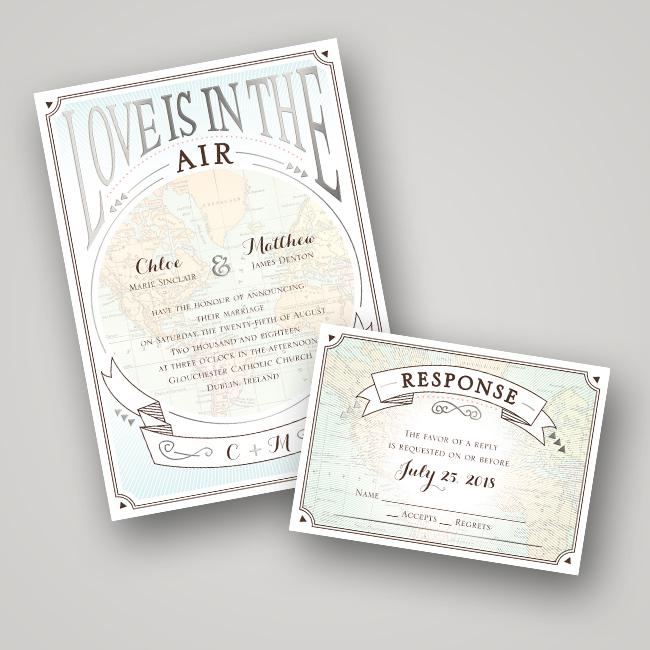 Wedding Invitation Ideas: Foil Pressed Invitations via TheELD.com